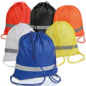 PE rucksack with reflective band