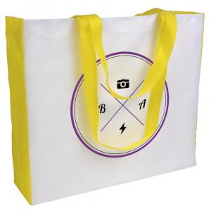 PE coloured handled gusset bag 210T