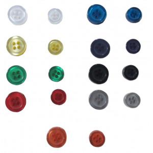 Színes ing gomb - 11 mm